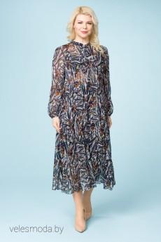 Платье 2162 синий+белый ASV