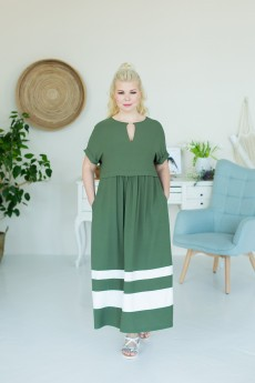Платье 2392 зелено-белый ASV