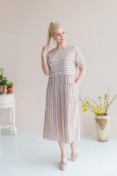 Платье 2409 розовый + голубой ASV