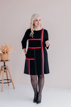 Платье 2425 черно-красный ASV