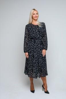Платье 0869 черный AVILA