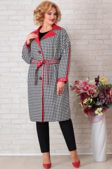 Пальто 825 черно-белый Aira-Style
