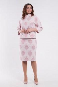 Костюм юбочный 3494 розовый Amelia Lux