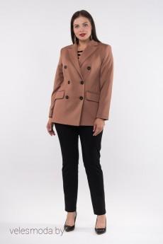 Пиджак 34-24 коричневый Amelia Lux