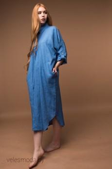 Платье  000-6 голубой AmeliaLux