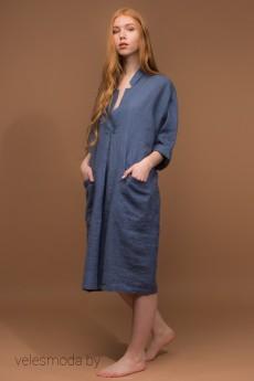 Платье  000-6 синий AmeliaLux