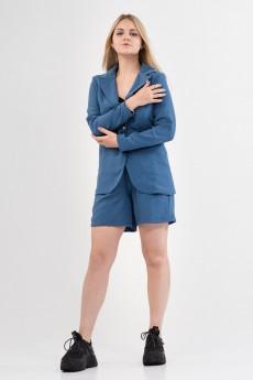 Костюм с шортами 423-20 синий Amelia Lux