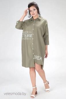 Платье 426-20 хаки Amelia Lux