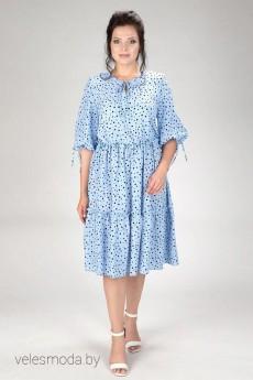 Платье 428-20 голубой AmeliaLux