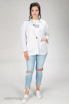 Пиджак 432-20 белый AmeliaLux