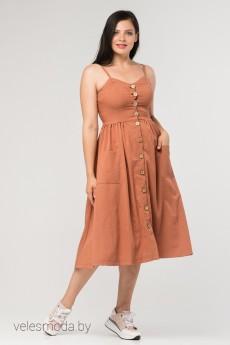 Платье 433-20 терракот Amelia Lux