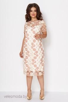 Платье 735 пудровый Анастасия Мак