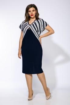 Платье 881 синий Анастасия Мак