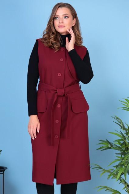 Платье 923 бордовый Анастасия Мак
