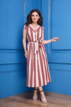 *Платье 304 красная полоска Anastasia