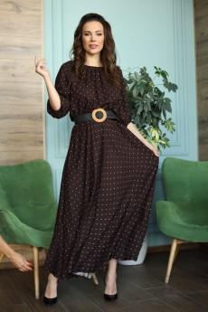 Платье 655 коричневый Anastasia