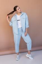 Костюм брючный 649 голубой Angelinа