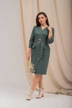 Платье 679 зеленый     Angelinа