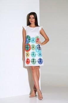 Платье 162 молочный Andrea Fashion