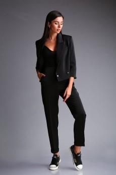 Костюм брючный 170 черный Andrea Fashion