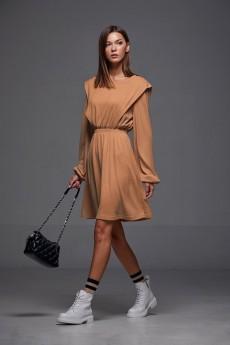 Платье 186 камел Andrea Fashion