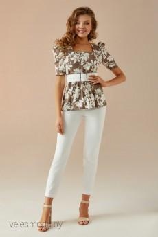 Комплект   брючный 023 бежевый Andrea Fashion
