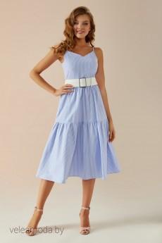 Сарафан   025 голубой+белый Andrea Fashion