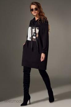 Платье 077 черный Andrea Fashion