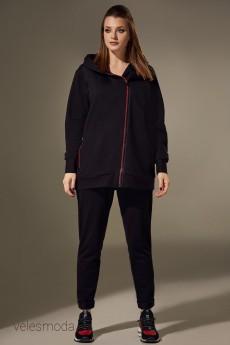 Спортивный костюм 00307 черный Andrea Style