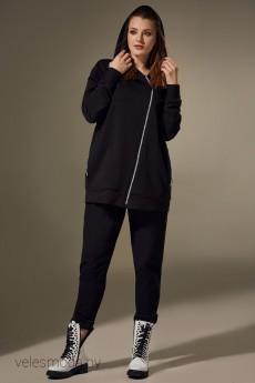 Спортивный костюм 00308 черный Andrea Style