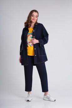 Костюм брючный 0357 синий Andrea Style