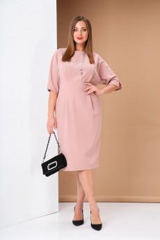 Платье 0383 бежевый-1 Andrea Style