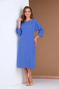 Платье  0390 синий Andrea Style
