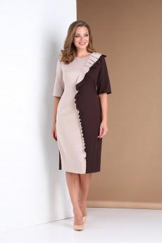 Платье  0391 коричневый Andrea Style