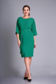 Платье 0393 изумруд Andrea Style