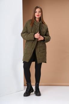 Куртка 0414 зеленый Andrea Style