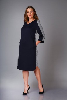 Платье 0417 синий Andrea Style