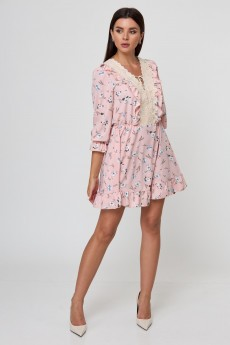 Платье 1023 пудра с цветами Anelli