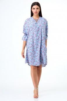 Платье 1054 голубые тона Anelli