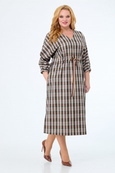 Платье 1138 коричневый Anelli