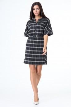 Платье 203 черный + клетка Anelli