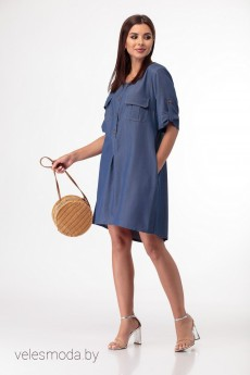 Платье 305 синий Anelli