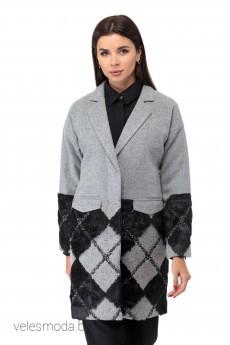 Пальто 427 серый Anelli