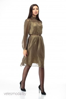 Платье 588 золото Anelli