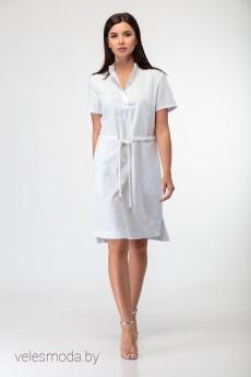 Платье 864 бело-голубой Anelli