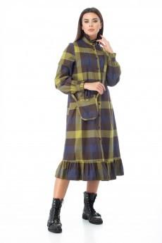 Платье 977 оливковый Anelli