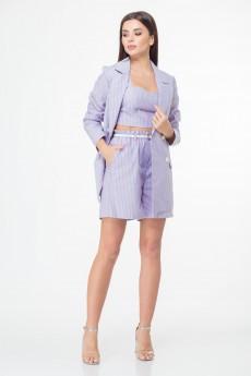 Костюм с шортами 999 фиолетовый + полоска Anelli