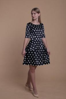Платье 090 синий + горох AnnLine