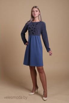 Платье 204 серый AnnLine