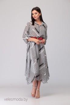 Платье 1311 черно-белый DENISSA